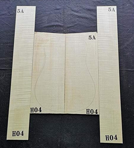 chushi 41 Zoll 5A Meister Deutscher Tiger Ahorn Rückseite Einzelbrett Gitarre Material Gitarre Material Material Zzib (Color : 5A Tiger Pattern H04)