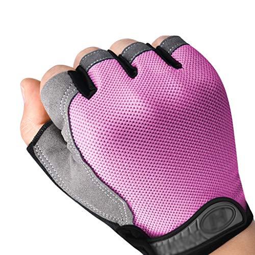 Xxw Dames Fitness Handschoenen Dames Uitrusting Training Slip Mountainbikes Sport Heren Dunne Half Vinger Handschoenen
