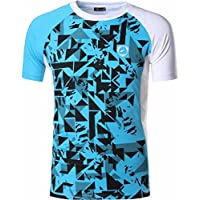 jeansian Hombre Camisetas Deportivas Wicking Quick Dry tee T-Shirt Sport Tops LSL193 White XL
