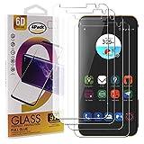 Guran 4 Paquete Cristal Templado Protector de Pantalla para ZTE Blade V7 Smartphone 9H Dureza Anti-Ara?azos Alta Definicion Transparente Película