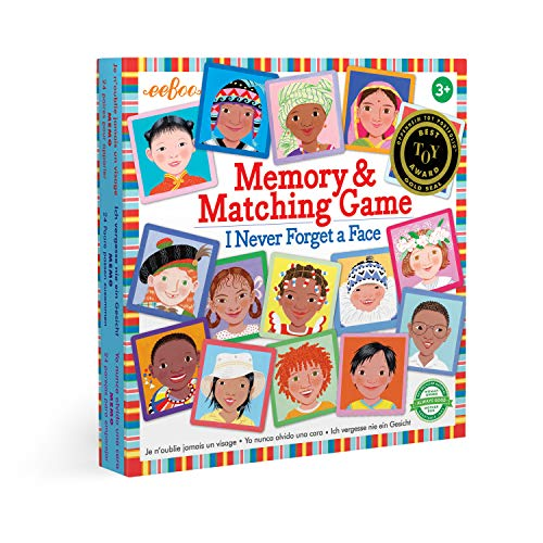 eeBoo I Never Forget a Face Memory Matching Game for Kids (Toy)