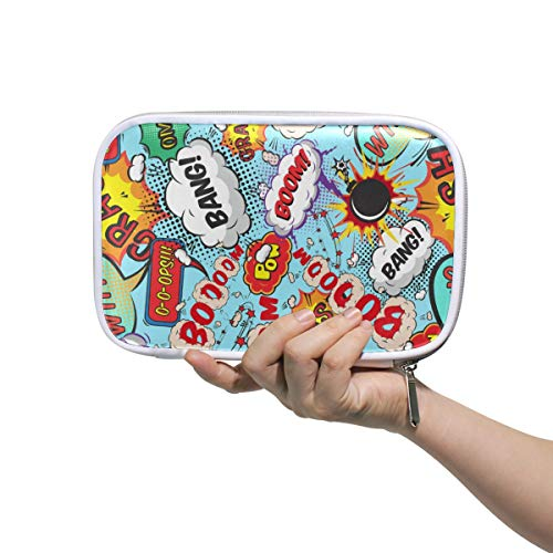 FANTAZIO - Brazalete de burbujas de voz Boom! Estuche para lápices de gran capacidad, bolsa de maquillaje, resistente, regalo perfecto para estudiantes