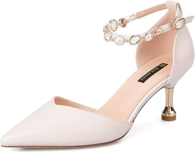 GTTchaussures Mode féminine 2019 Nouveau Bout Pointu Cheville Strap Sandale Talon Haut Chaussures Sandales Escarpins