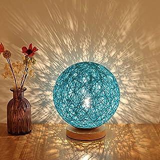 Sundos Lampe De Chevet Moderne En Bambou Et Rotin - Lampe De Table Moderne Et Créative Avec Base En Bois - Décoration Pers...