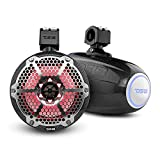 DS18 Hydro CF-X8TP 8' Marine Towers with Integrated RGB LED Lights - High Performance, Marine Grade IP65 Rated, UV Stable, 375 W Max 125 W RMS 4 Ohms (Pair)