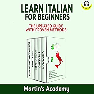 Learn Italian for Beginners: The Updated Guide with Proven Methods cover art