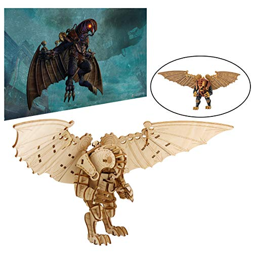 """Bioshock Infinite Songbird Poster and 3D Wood Model Figure Kit - Build, Paint and Collect Your Own Wooden Toy Model - Great for Teens and Adults,17+ - 9 3/4"""""""