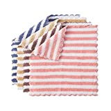 Cathy Clara 4 Packs Dish Towel Multi Colors Coral Fleece Kitchen Towel Dish Cloth for Home Kitchen Bar