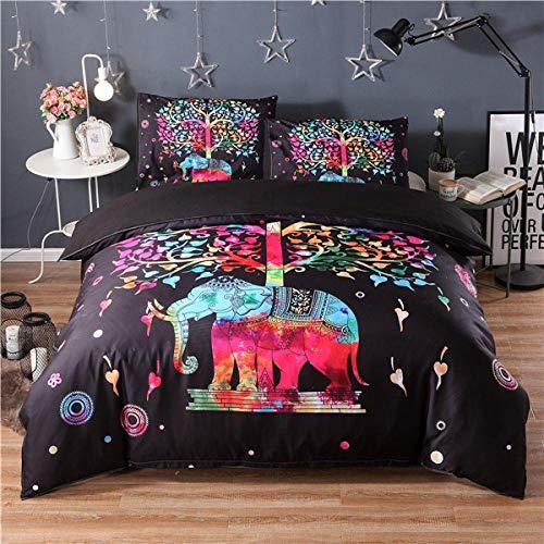WWDDDEF Elefante Animal Creativojuego De Ropa De Cama220X240 Cm para Adolescentes · Ropa De Cama Infantil · Diseño ·1 Funda Nórdica De + 2 Funda De Almohada - Cómodo Suave Fácil De Limpiar