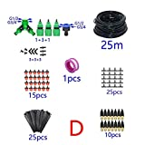 NOBRAND MMingx Sistema De Riego Automático De Riego DIY Kit De 2 Vías Sistema De Riego por Goteo De Latón Boquilla De Nebulización Invernadero De Riego del Jardín 1 Set (Color : D)