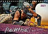Paintball - so cool (Tischkalender 2021 DIN A5 quer)