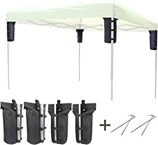 Explore Land Weight Bag for Portable Pop-up Canopy Tent Gazebo Outdoor Up to 30 lb, Without Sand (4, Black)