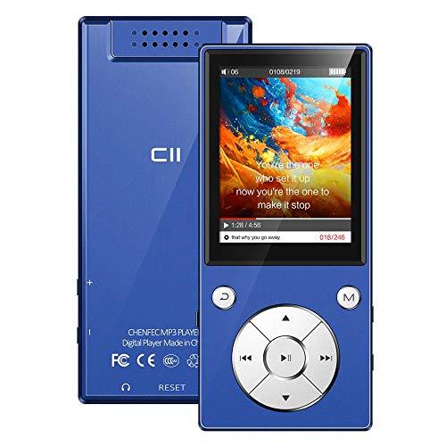 """32 GB 2,4\"""" Bluetooth 5.0 MP3 Player Eingebauter Lautsprecher Metallgehäuse HiFi-Musik-Player, UKW Radio, Sprachaufzeichnungs, Videoplayer, Sportarmband, Unterstützung von bis zu 128 GB - Blau"""