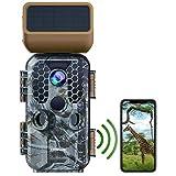 Campark Solar Power Trail Camera 30MP 4K Native WiFi Bluetooth Game Camera with Night...