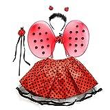 VICASKY Disfraz de Hadas Mariposa, Disfraz de Hada para niñas, Alas de Mariposa, Tutú, Varita Mágica y Diadema, Conjunto de Diadema de Disfraces para Niños