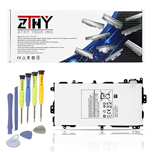 Price comparison product image ZTHY New SP3770E1H Tablet PC Battery Replacement for Samsung Galaxy Note 8.0 GT-N5100(3G&Wifi) GT-N5110(Wifi) GN-5120(3G 4G LTE Wifi) SGH-I467 SGH-I467ZWAATT with Tools 3.75V 4600mAh