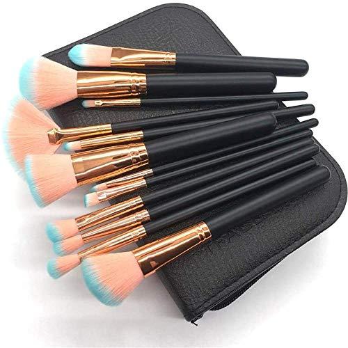Llxxx Pinceau de Maquillage-Ensemble de 12 pinceaux de Maquillage pour débutants et maquilleurs Professionnels, B
