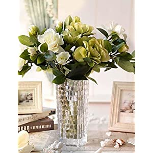 HUAHUA Artificial Flowers, Fashion Bouquets,Silk Gardenia Artificial Flowers