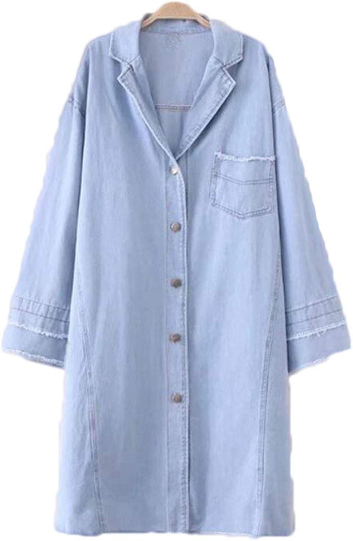 Denim jacket, women's clothing, new large size, fat MM, denim windbreaker, thin coat, loose coat