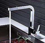 Miscelatore da cucina monocomando cromato Miscelatore da cucina quadrato monoforo Miscelatore con doccetta estraibile