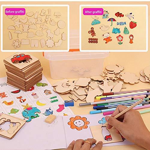 su-xuri Juego de plantillas de dibujo para niños Plantillas de plantillas de pintura para niños Juego de colorear DIY para niños pequeños Juguete educativo ordinary