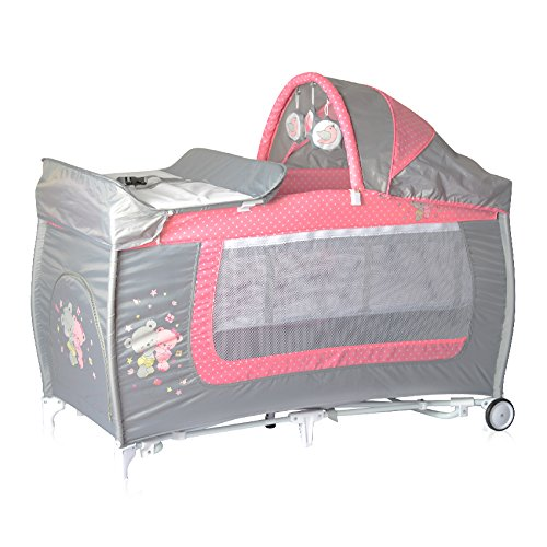 Lorelli 10080371817 Lit Parapluie + Mode Lit à Bascule Danny 2 Rose
