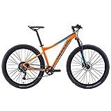Xiaoyue 9-Speed-Mountainbikes, Erwachsene Big Wheels Hardtail Mountainbike, Alurahmen Front Suspension Fahrrad, Mountain Trail Bike Orange lalay (Color : Orange)
