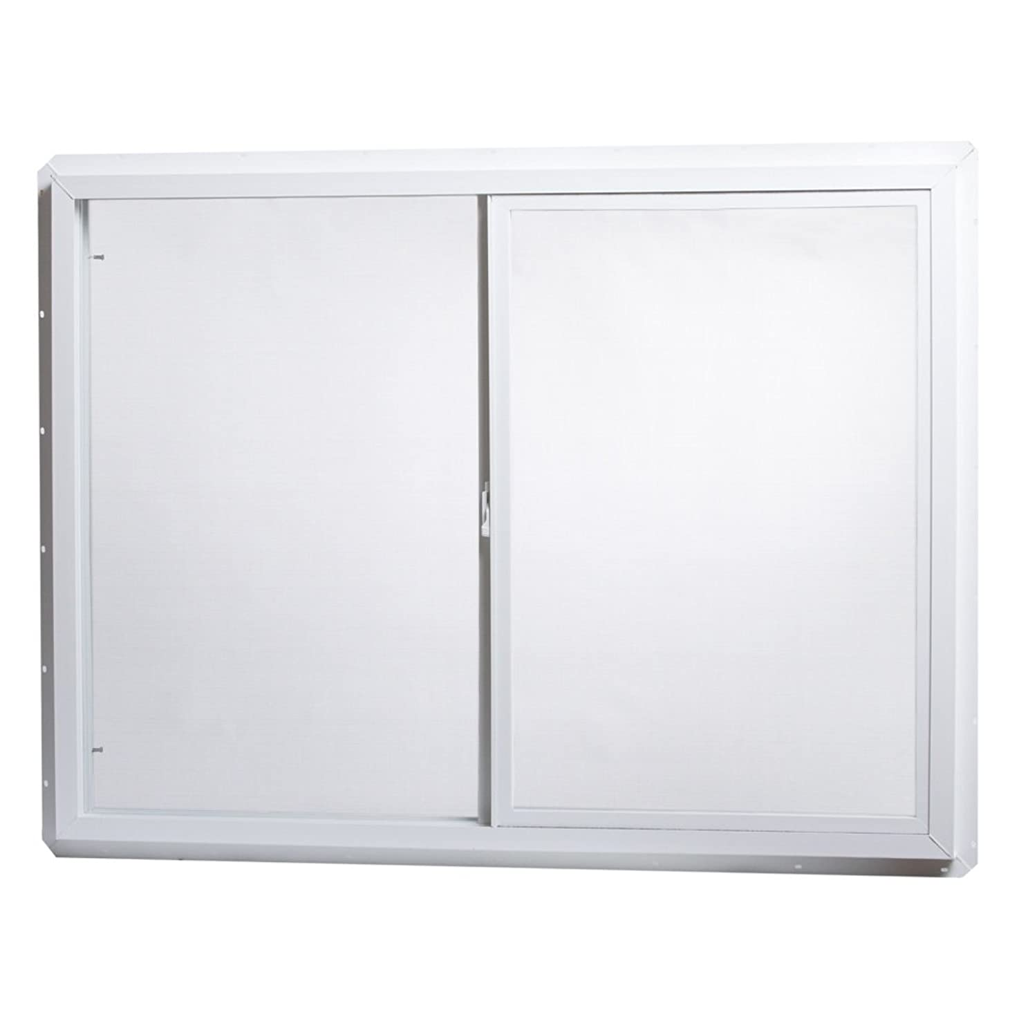 Park Ridge Products VUS4836PR Park Ridge Slider Glazed 48 in. x 36 in. Utility Single-Glass Sliding Vinyl Window – White,