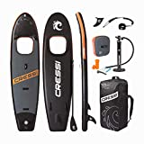 Cressi Kinilau 10'6' Kit Complete Stand up avec Fenêtre Paddle Sup Gonflable Adulte Unisexe, Noir/Orange