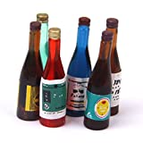 Miniatur Flaschen - TOOGOO(R)1/12 Puppenhaus Miniatur Flaschen Wein 6 Stueck Set