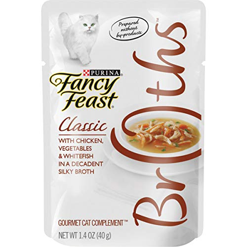Purina Fancy Feast Broth Wet Cat Food Complement, Broths Classic With Chicken, Vegetables &...