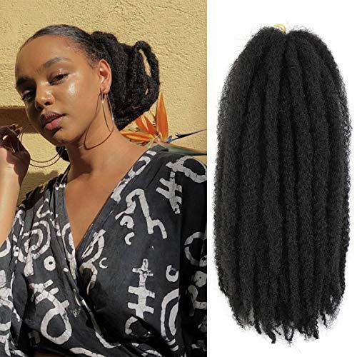 AMELI 6 Packs Marley Braiding Hair for Twists Synthetic Fiber Hair Afro Kinky Hair Marley Braid Hair Extensions (18inch, 2#)