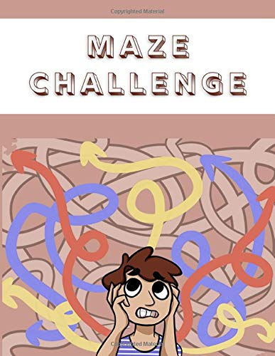 Maze Challenge: Brain Teasers Paper Blank Notebook Journal 8.5x11' 150 Pages | This Book Is Inspired By Mind Sport