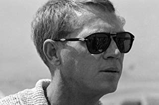 5e35e10134a12 Steve McQueen profile in Persol sunglasses classic fashion 24x36 Poster