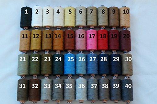 1 Rolle Nähgarn Jeansgarn Knopflochgarn Ledergarn 50er Stärke, 500m/Rolle, 100% Polyester, TOP Qualität (6 - hellbeige(0372))