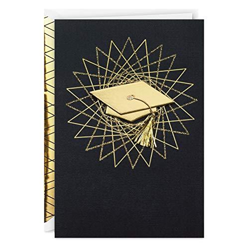 Hallmark Signature Graduation Card (Graduation Cap With Tassel Hats Off to You)