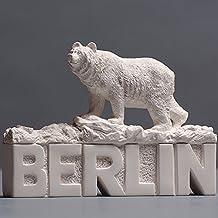 Berlin Schriftzug mit Berliner Bär Skulptur aus hochwertige