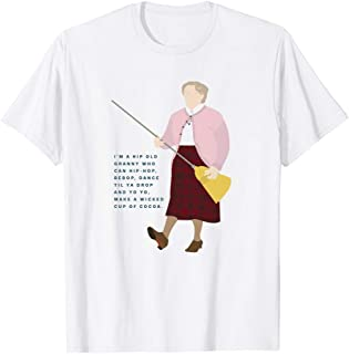Mrs. Doubtfire Robin-Williams Quote I'm a Hip Old Granny Movie Humor Graphic Gift for Men Women Girls Unisex T-Shirt
