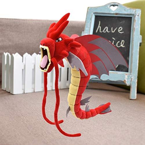 Decanyue 56-59cm 23-23.2 '' Mega Gyarados Peluche de Peluche Dragón Rojo y Azul Brillante Muñeca de Peluche Suave Peluche Animal Cartoon Anime 56-59cm C