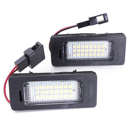 REFURBISHHOUSE 2 x eclairage Plaque d'immatriculation License LED Lampe pour Audi A4 A5 Q5 S5 TT 08-13 sans Erreur