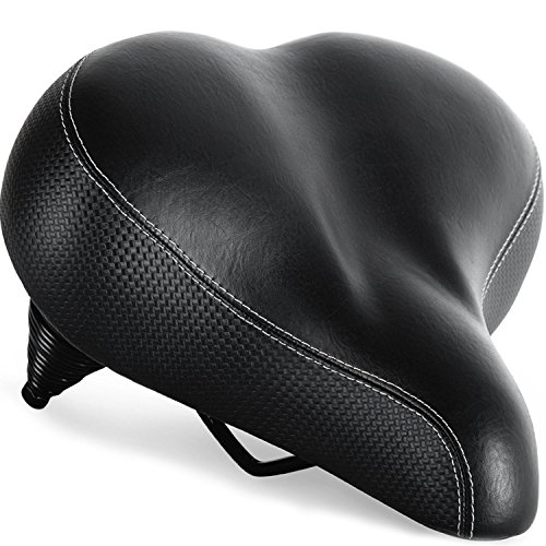 Most Comfortable Bike Seat for Seniors – Extra Wide and Padded Bicycle Saddle for Men and Women Comfort – Universal Bike Seat Replacement