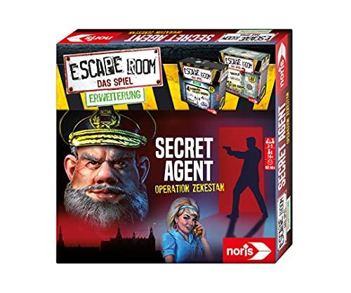 Noris 606101776 - Escape Room Erweiterung Secret Agent - Familien und Gesellschaftsspiel für Erwachsene - Nur mit dem Chrono Decoder spielbar - ab 16 Jahren