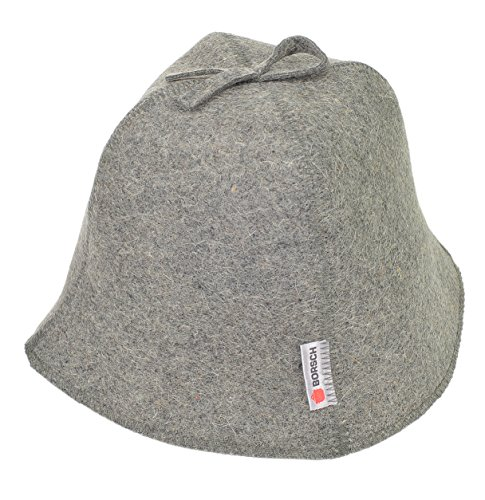Borsch Russian Sauna Hat Natural Sheep's Wool