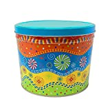 Premium Large Candy Tin with Lid | Two Gallon Colorful Container for Cookies, popcorn Candy, Toys, Gifts
