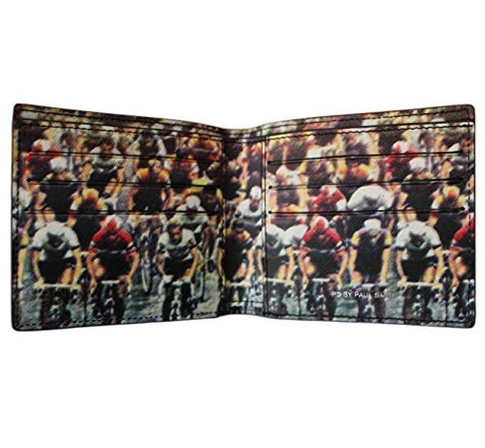 ホバート愛情スーツポールスミスメンズビルフォールドレザーウォレット自転車レースプリントブラック8カード