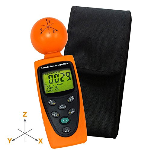 HandHeld Digital Triple Axis 50 MHz ~ 3,5 GHz EMF Magnetfeld RF Strahlung ElectroSmog Detector Tester