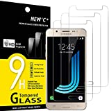 NEW'C 3 Unidades, Protector de Pantalla para Samsung Galaxy J5 2016 (SM-J510), Antiarañazos, Antihuellas, Sin Burbujas, Dureza 9H, 0.33 mm Ultra Transparente, Vidrio Templado Ultra Resistente