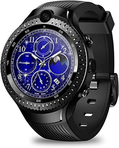 OH Reloj Inteligente Deportivo de Hombres Exquisitos, Reloj de Fitness con Monitor Continuo de Frecuencia Cardíaca, Reloj Inteligente de Doble Cámara 4G 1 + 16G Memoria Grande Cuádr
