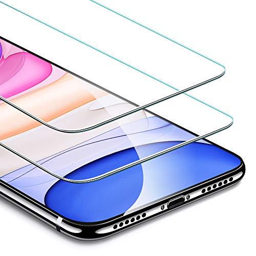 """ESR Protector de Pantalla para iPhone 11/iPhone XR, [2 Unidades] Protector de Cristal Templado Premium para iPhone 11, [Marco de Instalación Fácil] Vidrio Templado para iPhone de 6,1"""" (2019)"""