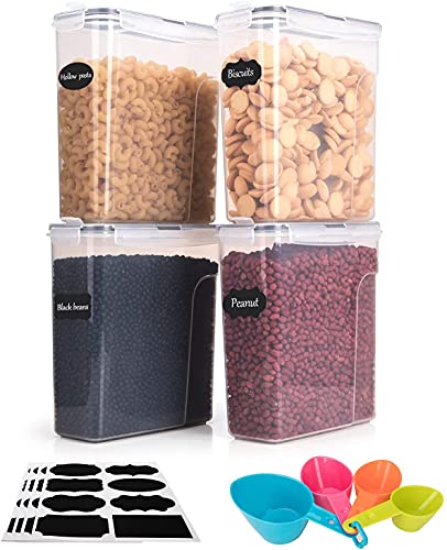 Boic Recipientes Hermeticos Alimentos Trozo de 4 ,4L Caja de Botes Almacenaje Cocina,Puede Almacenar Granos, Pasta, Harina y Comida para Mascotas